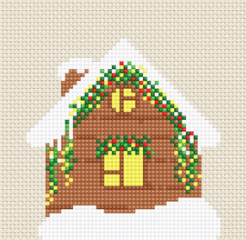 Christmas Cabin Counted Cross Stitch Kit by Luca-S
