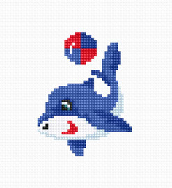 Dolphin Counted Cross Stitch Kit by Luca-S