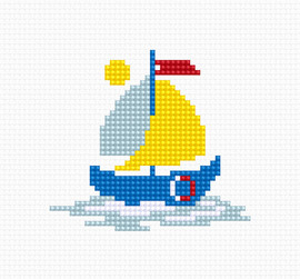 Sailing Boat Counted Cross Stitch Kit by Luca- S