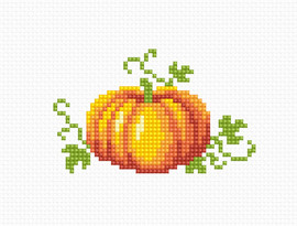 Pumpkin Counted Cross Stitch Kit by Luca- S