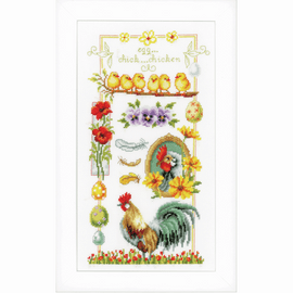 About Chickens Cross Stitch Kit by Vervaco