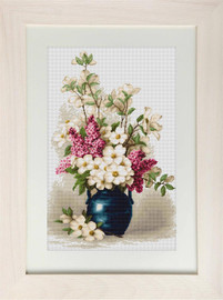 Lilac and Jasmine Counted Cross Stitch Kit by Luca-S