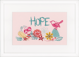 Hope Counted 14 ct Cross Stitch Kit by Vervaco