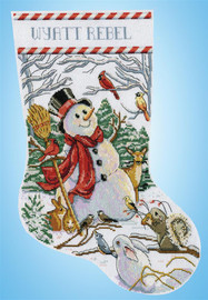 Woodland Snowman Christmas Stocking Making Kit By Design Works