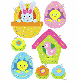 Set of 2 Easter Hanging Decorations Embroidery Kit: Cards by Vervaco