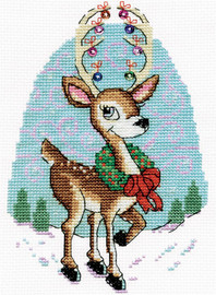 Reindeer Christmas Cross Stitch Kit by Design Works
