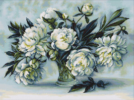 Peonies Counted Cross Stitch Kit by Luca-S