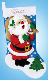 Jolly Santa Christmas Stocking Making Kit by Design Works