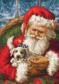Santa Claus and Puppy Counted Cross Stitch Kit by Luca-S