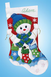 Snowman with S Christmas Stocking Making Kit by Design Works