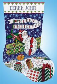 Airplane Santa Christmas Stocking Making Kit by Design Works