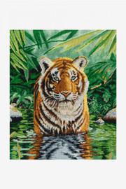 Tiger Pool Cross stitch Kit By DMC