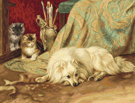 The Dog and Cats Counted Cross Stitch Kit By Luca S