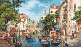 The Streets of San Polo Counted Cross Stitch Kit By Luca S