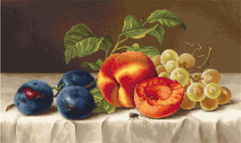Still Life with Peach Counted Cross Stitch Kit By Luca S