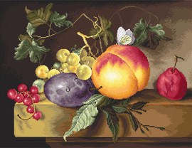 Still Life with Plum Counted Cross Stitch Kit By Luca S