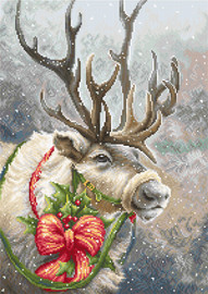 Christmas Deer Counted Cross Stitch Kit By Luca S