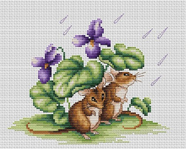 Mice Counted Cross Stitch Kit By Luca S