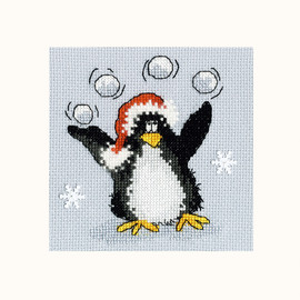 PPP Playing Snowballs Cross Stitch Kit By Bothy Threads