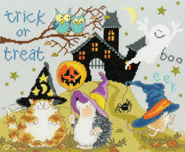 Trick Or Treat Cross Stitch Kit By Bothy Threads