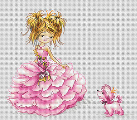 The Princess Counted Cross Stitch Kit By Luca S