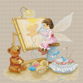Stitching Fairy Counted Cross Stitch Kit By Luca S