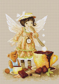 Chocolate Fairy Counted Cross Stitch Kit By Luca S