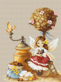 Coffee Fairy Counted Cross Stitch Kit By Luca S