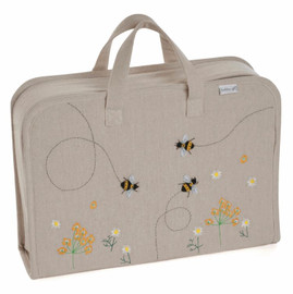 Linen Bee Appliqué Large Project Case by Hobby Gift