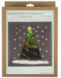 Christmas Tree Needle Felting Kit with Frame by Trimits