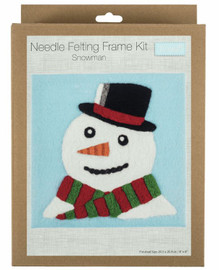 Snowman Needle Felting Kit with Frame by Trimits