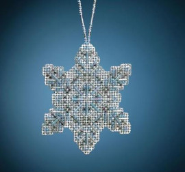 Crystal Snowflake Counted Cross Stitch Ornament Kit by Mill Hill
