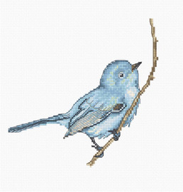 Little Bluebird Counted Cross Stitch Kit By Luca s