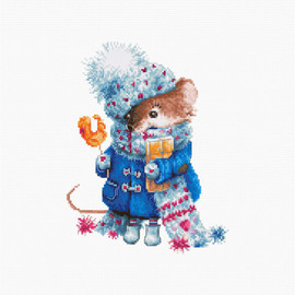 Christmas Mouse Counted Cross Stitch Kit By Luca S