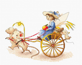 Fairy with Mice Counted Cross Stitch Kit By Luca S