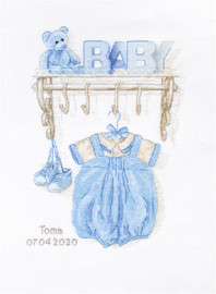 Baby Boy Birth Counted Cross Stitch Kit By Luca S