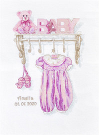 Baby Girl Birth Counted Cross Stitch Kit By Luca S