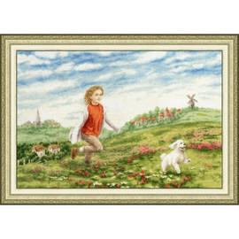 Happy Summer Cross Stitch Kit by Golden Fleece