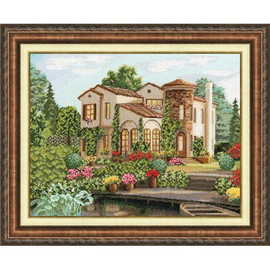 Country House Cross Stitch Kit by Golden Fleece