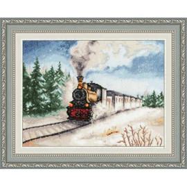 Winter Express Cross Stitch Kit by Golden Fleece