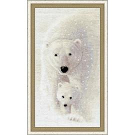 Among The Snow Cross Stitch Kit by Golden Fleece