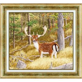 Forest Deer Cross Stitch Kit by Golden Fleece