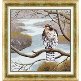 Falcon Cross Stitch Kit by Golden Fleece