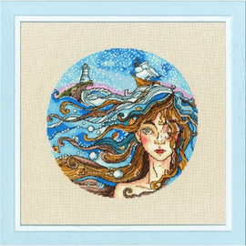 Dreaming Of The Sea Cross Stitch Kit by Golden Fleece