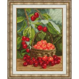 Garden Cherry Cross Stitch Kit by Golden Fleece
