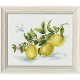 Lemon Branch Cross Stitch Kit by Golden Fleece
