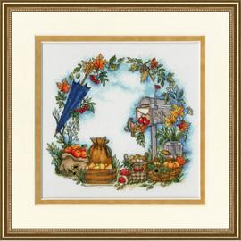 Autumn Letter Cross Stitch Kit by Golden Fleece