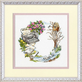 Spring In The Air Cross Stitch Kit by Golden Fleece
