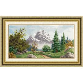 Altai Landscape Cross Stitch Kit by Golden Fleece