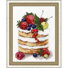 Berry Cake Cross Stitch Kit By Golden Fleece